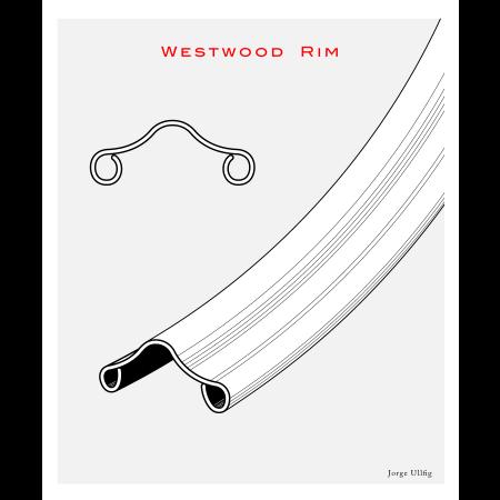 Ráfik Westwood AL 28x1 1/2 (40-635), strieborný