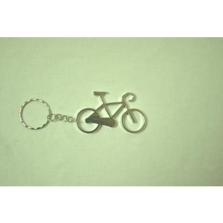 Prívesok na kľúče - bicykel, strieborný