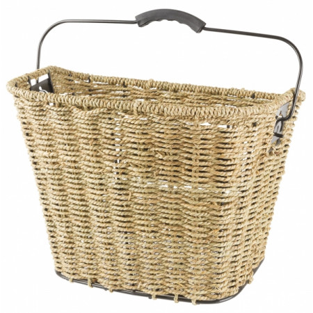 basket Basil rattan front with hooks and lid