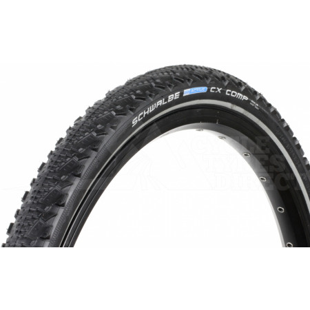 Tire Schwalbe CX Comp, 24 x 1,75, 47-507, Black with reflexive side wall